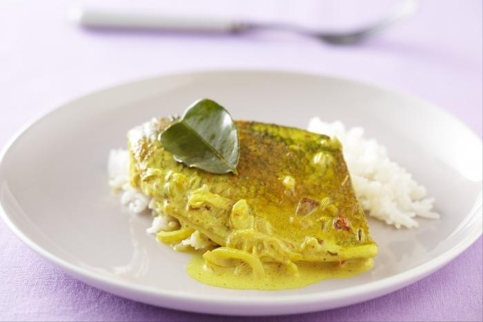 Recette de filet de bar et curry de coco facile et rapide