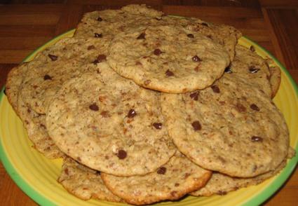 Recette de cookies moelleux noisettes-chocolat