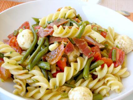 Recette de salade de fusilli aux couleurs d'italie
