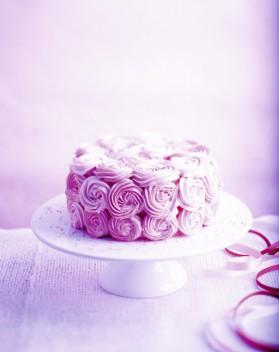 Rose cake pour 6 personnes