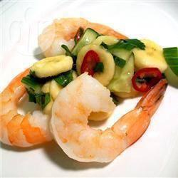 Recette crevettes thaïes à la sauce banane