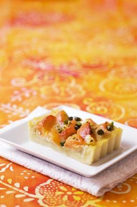 Recette de tarte de polenta aux abricots et au miel