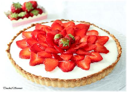 Recette de tarte aux fraises et mousse au chocolat blanc