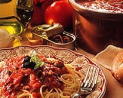 Recette spaghettis sauce tomate à l'italienne