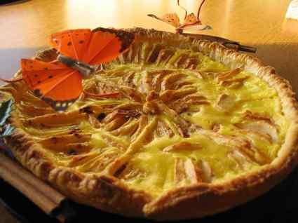 Recette de tarte aux pommes citronnée