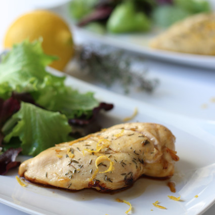 Recette escalope de poulet citron et thym