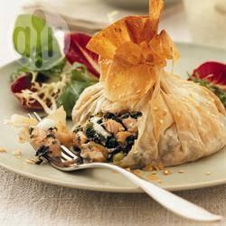 Recette aumônières de saumon aux épinards – toutes les recettes ...