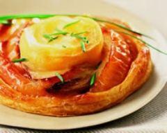 Recette tartes fines aux pommes, romarin et rocamadour
