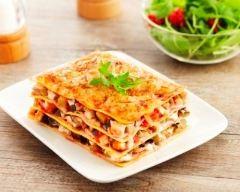 Recette lasagnes bacon, aubergine et courgette