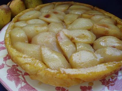 Recette de tarte tatin aux poires épicées