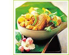 Recette colombo de porc et achards de mangue