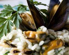 Recette risotto au vin et aux moules