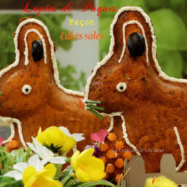 Recette lapins de pâques façon cakes salés