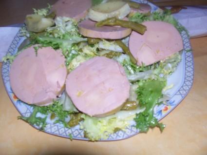 Recette de foie gras en salade