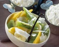 Recette salade de fruits exotiques à la crème fouettée