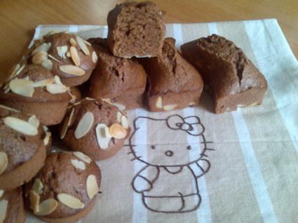 Recette de mini-fondants au chocolat noir et amandes