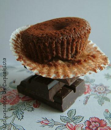 Recette de cupcakes moelleux au chocolat coeur framboise