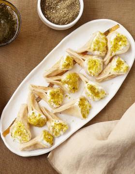 Petites crêpes aux pistaches pour 4 personnes