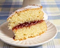 Recette gâteau mousseline à la confiture de fraises