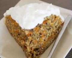 Recette gâteau épicé aux carottes à la vapeur