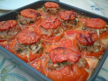 Recette de tomates farcies aux trois poissons