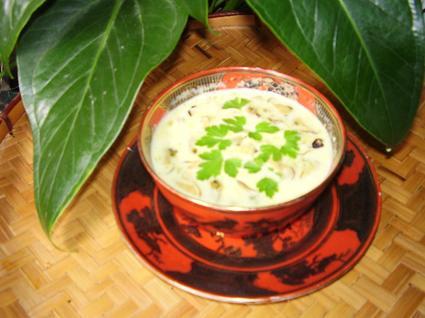 Recette de crème de coco aux moules et au curry