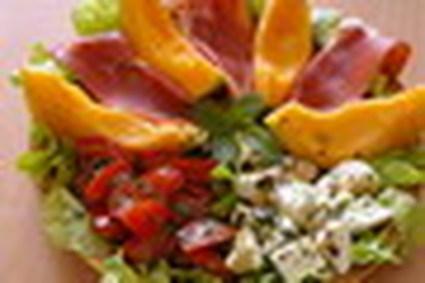 Recette de salade au melon, jambon cru et mozzarellla