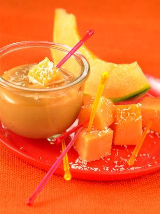 Recette de melon philibon à la confiture de lait et noix de coco
