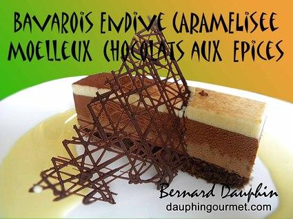 Recette de bavarois endive, moelleux chocolat aux épices