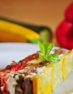 Mille feuilles de légumes du soleil au fromage de chèvre pour 1 ...
