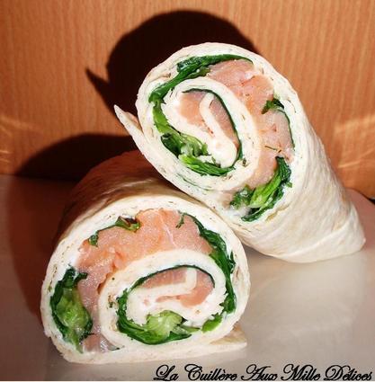 Recette de wraps chèvre & saumon