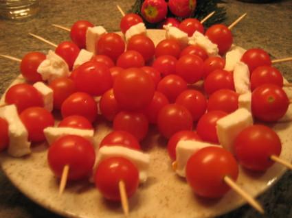 Recette de brochettes de tomates cerises au chèvre