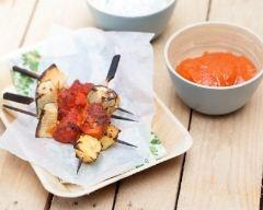 Recette brochettes de poulet tandoori, ananas et courgettes