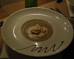 Recette velouté de champignons et chantilly au foie gras