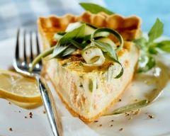 Recette tarte au saumon et aux courgettes