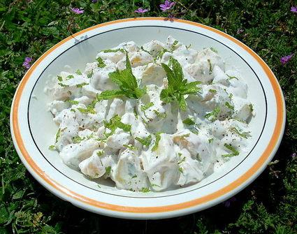 Recette de salade de pommes de terre à la menthe