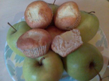 Recette de muffins coeur de pommes