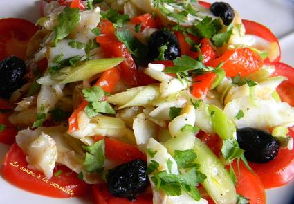 Recette de salade catalane à la morue (esqueixada)