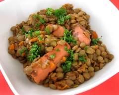 Recette saucisses végétariennes aux lentilles