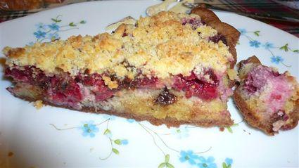 Recette de tarte aux framboise et crumble
