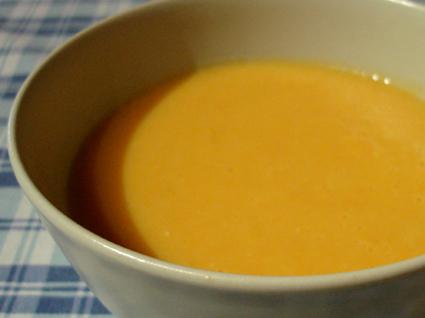 Recette de velouté potiron carottes