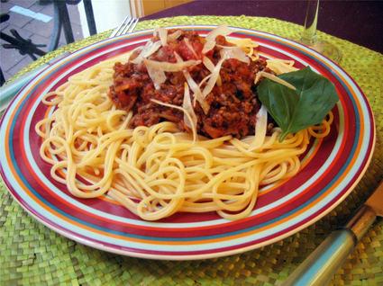 Recette de spaghettis sauce bolognaise