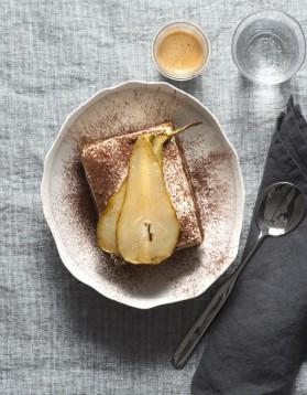 Tiramisu poire crème de marron pour 4 personnes