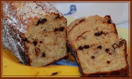 Recette de cake à la banane et pépites de chocolat
