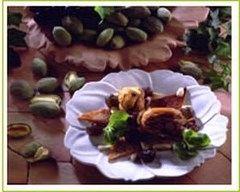 Recette cailles aux amandes et aux raisins