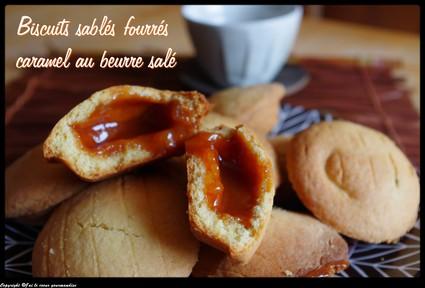 Recette biscuits sablés fourrés caramel au beurre salé (biscuits)