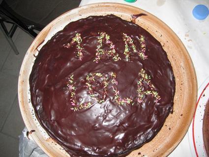 Recette de gâteau au chocolat, glaçage aux noix et vermicelles