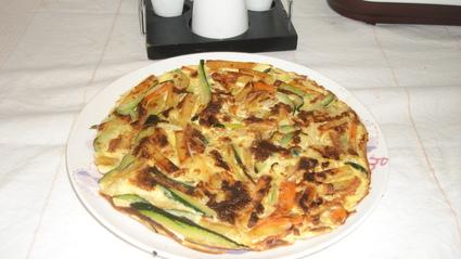 Recette omelette aux 3 légumes