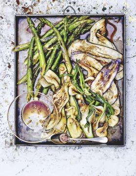 Légumes grillés, marinade à l'ail et sauce soja pour 4 personnes ...