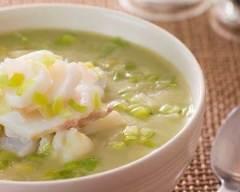 Recette soupe de poireaux au poisson
